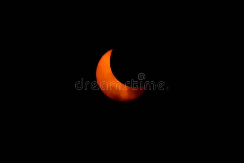 Tokyo, Japão - maio 21: Eclipse anular fotografia de stock