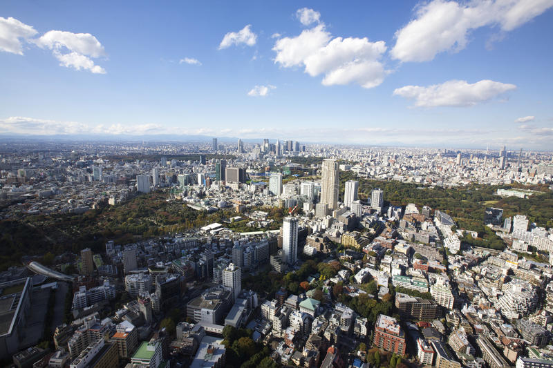 Download Tokyo Japan Aerial View stock photo. Image of city, blue - 22648060