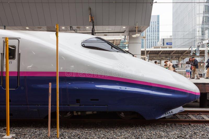 Tokyo,Japan - April 1,2015 : The E2 Series. Tokyo,Japan - April 1,2015 :The E2 Series Asama bullet train for Hokuriku Shinkansen (Tokyo - Nagano route) at Tokyo royalty free stock photo