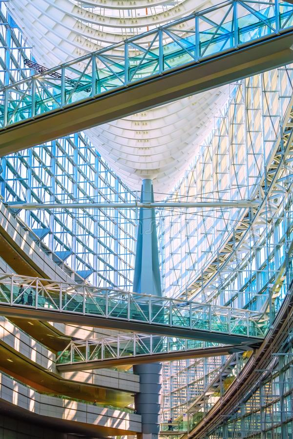 Tokyo International Forum - a multi-purpose exhibition center in Tokyo, Japan. Tokyo, Japan - April 28 2018: Tokyo International Forum is a multi-purpose royalty free stock photography