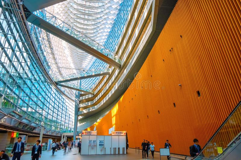Tokyo International Forum - a multi-purpose exhibition center in Tokyo, Japan. Tokyo, Japan - April 28 2018: Tokyo International Forum is a multi-purpose royalty free stock photo