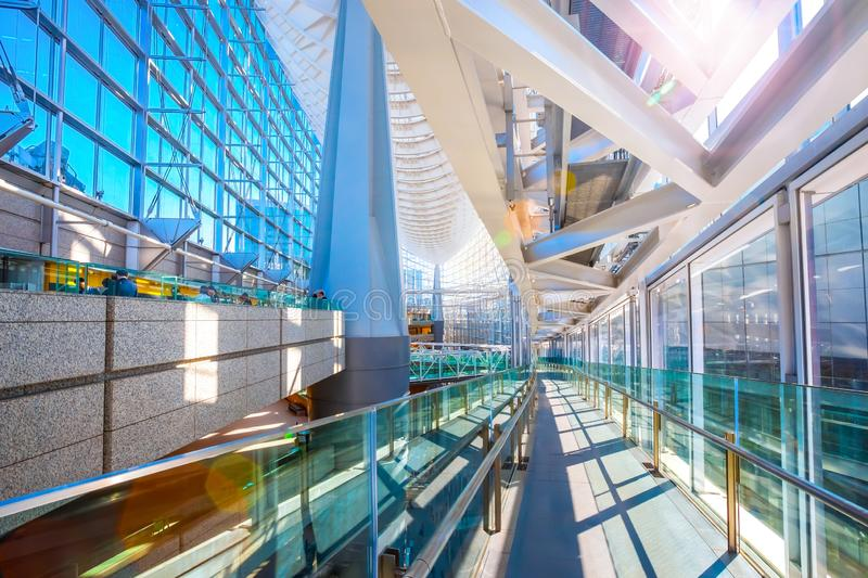 Tokyo International Forum - a multi-purpose exhibition center in Tokyo, Japan. Tokyo, Japan - April 28 2018: Tokyo International Forum is a multi-purpose stock images