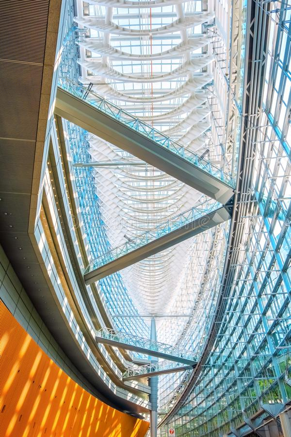Tokyo International Forum - a multi-purpose exhibition center in Tokyo, Japan. Tokyo International Forum is a multi-purpose exhibition center, designed by royalty free stock images