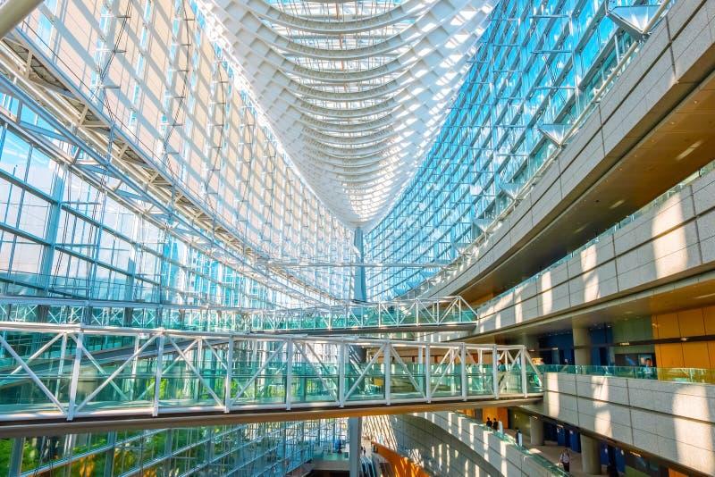 Tokyo International Forum - a multi-purpose exhibition center in Tokyo, Japan. Tokyo International Forum is a multi-purpose exhibition center, designed by stock photos