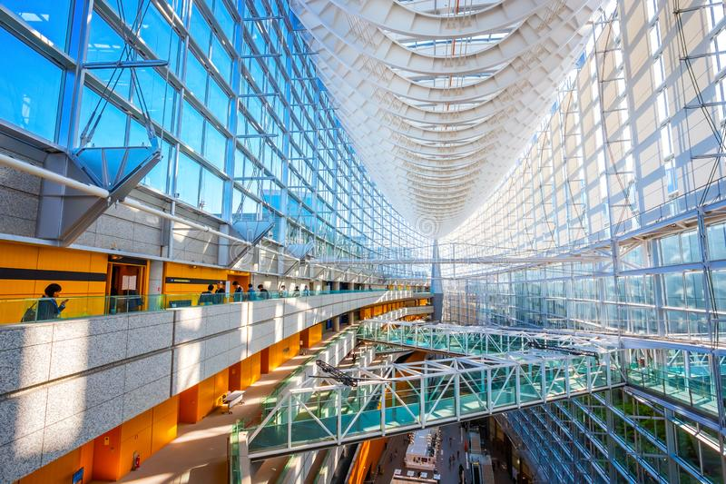 Tokyo International Forum - a multi-purpose exhibition center in Tokyo, Japan. Tokyo International Forum is a multi-purpose exhibition center, designed by stock photo