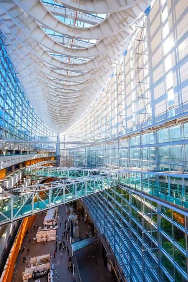 Tokyo International Forum - a multi-purpose exhibition center in Tokyo, Japan. Tokyo International Forum is a multi-purpose exhibition center, designed by stock image