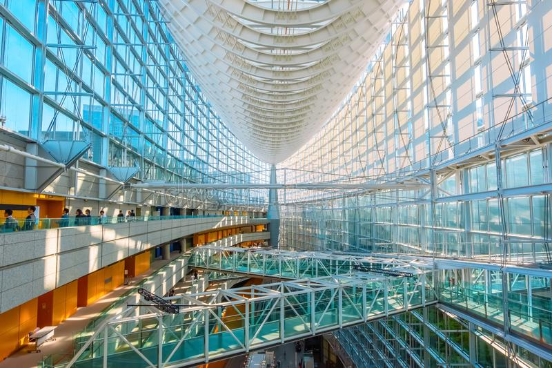 Tokyo International Forum - a multi-purpose exhibition center in Tokyo, Japan. Tokyo International Forum is a multi-purpose exhibition center, designed by royalty free stock photos