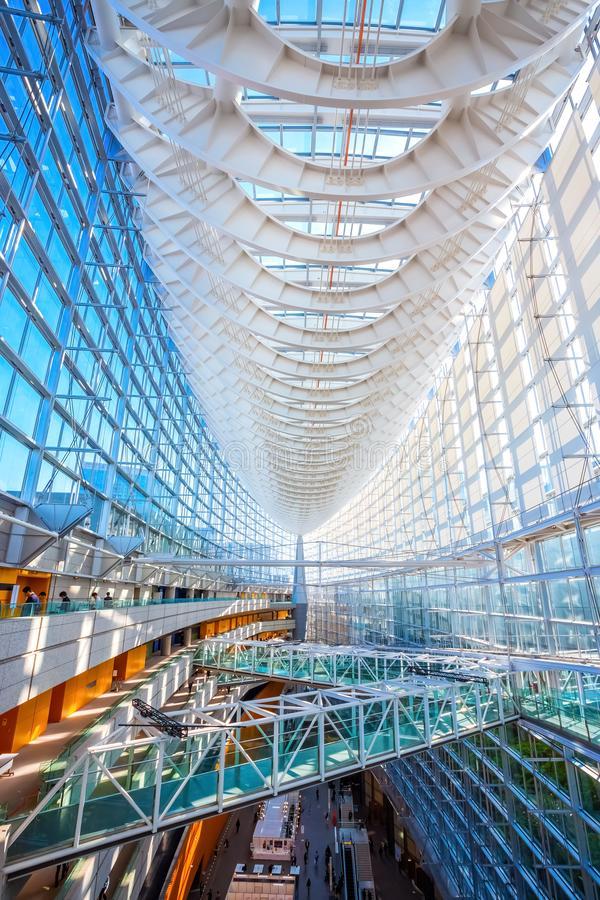 Tokyo International Forum - a multi-purpose exhibition center in Tokyo, Japan. Tokyo International Forum is a multi-purpose exhibition center, designed by stock images