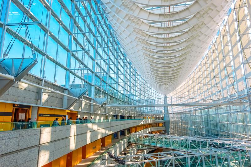 Tokyo International Forum - a multi-purpose exhibition center in Tokyo, Japan. Tokyo International Forum is a multi-purpose exhibition center, designed by stock photography