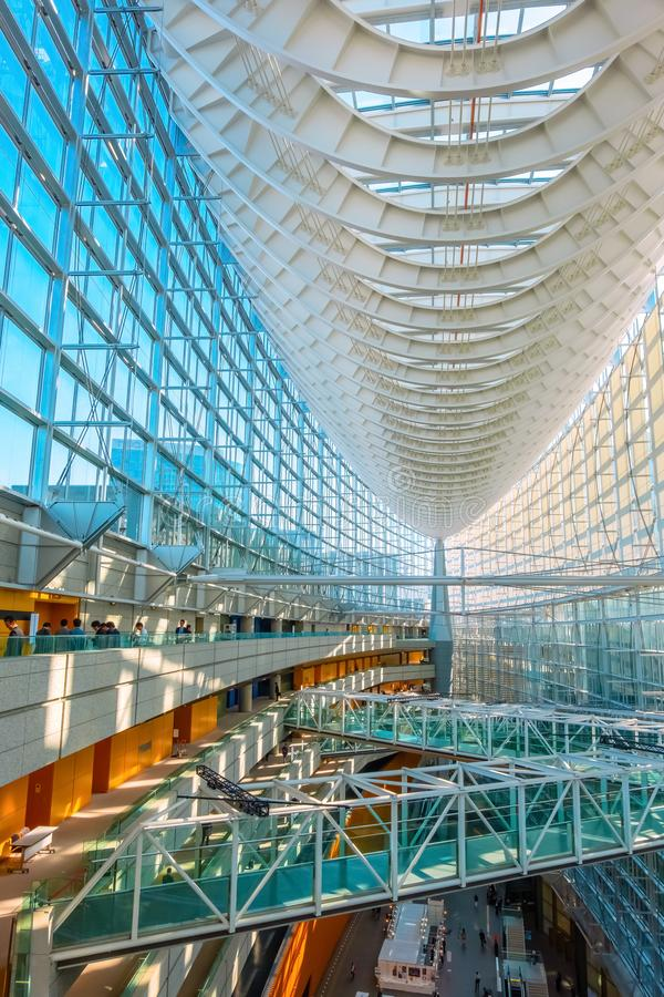 Tokyo International Forum - a multi-purpose exhibition center in Tokyo, Japan. Tokyo International Forum is a multi-purpose exhibition center, designed by stock photo