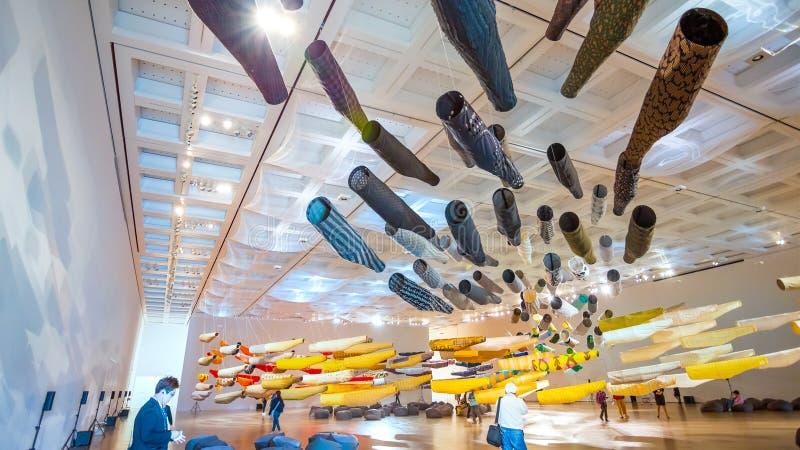 The national Art Center in Roppongi, Tokyo, Japan stock photo
