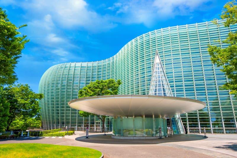 The national Art Center in Roppongi, Tokyo, Japan stock photos