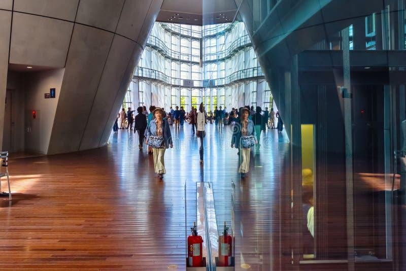 The national Art Center in Roppongi, Tokyo, Japan stock images