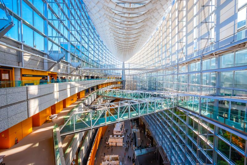 Tokyo International Forum - a multi-purpose exhibition center in Tokyo, Japan. Tokyo International Forum is a multi-purpose exhibition center, designed by royalty free stock photography