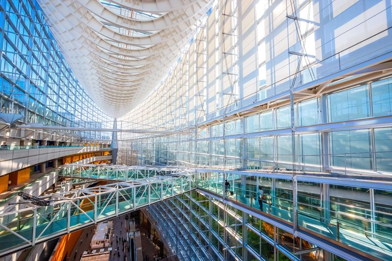 Tokyo International Forum - a multi-purpose exhibition center in Tokyo, Japan. Tokyo International Forum is a multi-purpose exhibition center, designed by stock photos