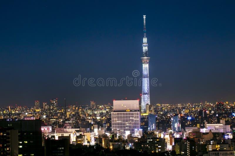 Tokyo, Japan - AUG 20 2019 - View of tokyo skytower twilight sunset royalty free stock photos