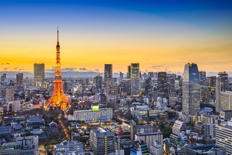 Tokyo Japan City Skyline royalty free stock photo