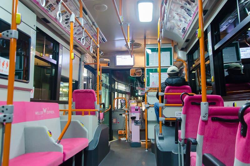 Tokyo, Japan - February 6, 2014  Interior Of Japan City Bus  Editorial Photo - Image -6982