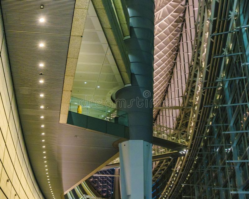 Tokyo Forum Building Interior View, Tokyo, Japan. TOKYO, JAPAN, JANUARY - 2019 - Interior view of famous tokyo forum building located at chyoda district, tokyo royalty free stock photography