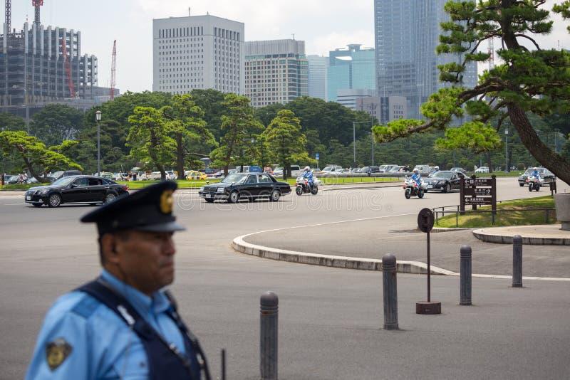 Tokyo, Japan - Juli 12, 2017: Keizer van Japan Akihito en Keizerin Michiko stock afbeeldingen