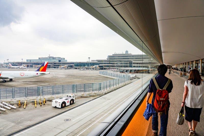 Passengers in Narita International Airpor royalty free stock photography