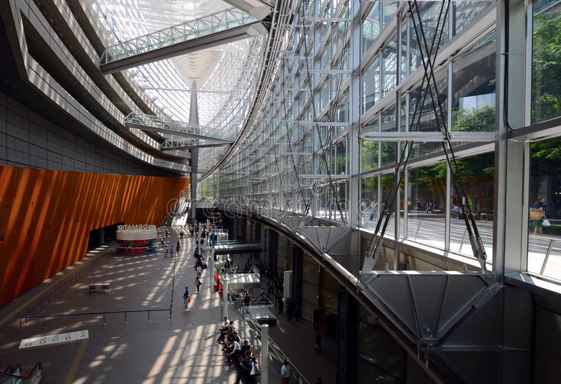 Tokyo International Forum is a multi-purpose exhibition center situated in Chiyoda City. Tokyo, Japan - June 29, 2015: Tokyo International Forum is a multi royalty free stock image