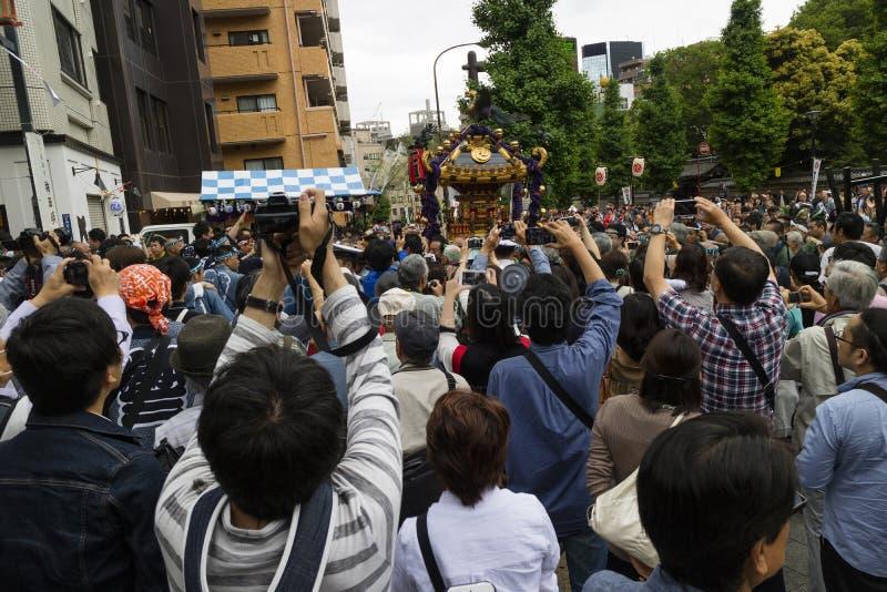 Tokyo Japan - Maj 14, 2017: Kanda Matsuri Festval arkivbilder