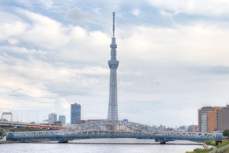 TOKYO,JAPAN - MAY 25 ,2013 : The Tokyo Skytree is a new television broadcasting tower and landmark of Tokyo. royalty free stock images