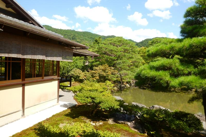 Tokyo japan nature scenery. Tranquility of the place is very compatible with the Japanese culture royalty free stock photography