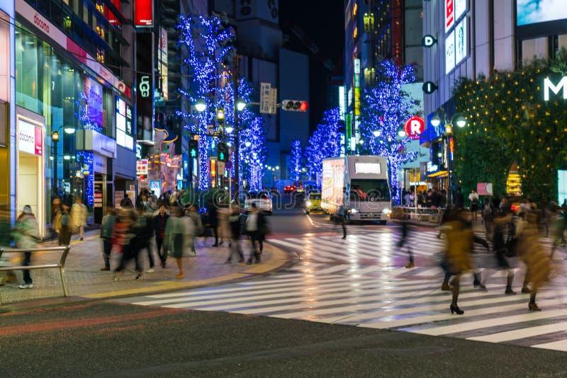 Tokyo, Japan, Nov 17, 2016: Shibuya Crossing Of City street with royalty free stock images