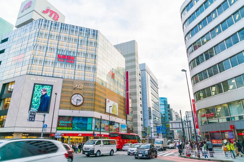 TOKYO ,JAPAN - 2016 Nov 17 : Shinjuku is one of Tokyo's busine royalty free stock image