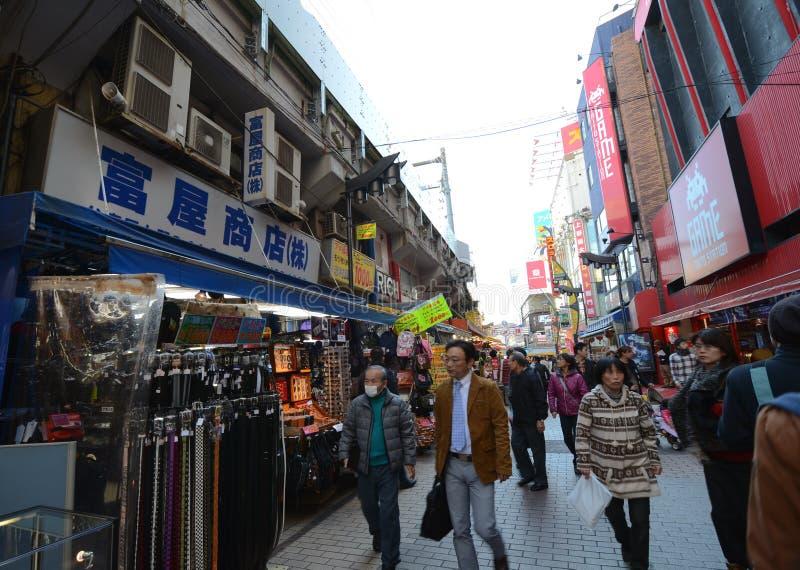 TOKYO, JAPAN - NOVEMBER 22 : Ameyoko Market In Ueno District Editorial Photo