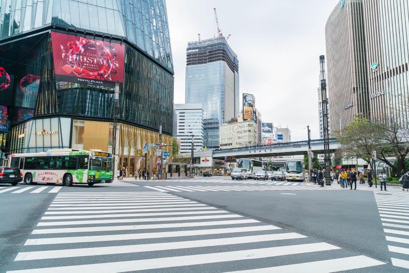 TOKYO, JAPAN - November 16 , 2016 : Cityscape at Tokyo Ginza Dis stock images