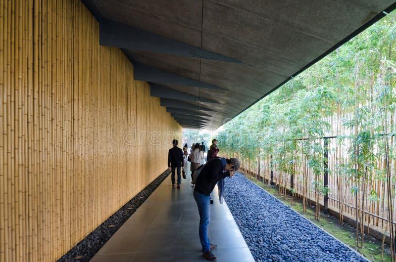 Tokyo, Japan - November 24, 2013: De mensen bezoeken Nezu-Museum in Tokyo stock afbeeldingen