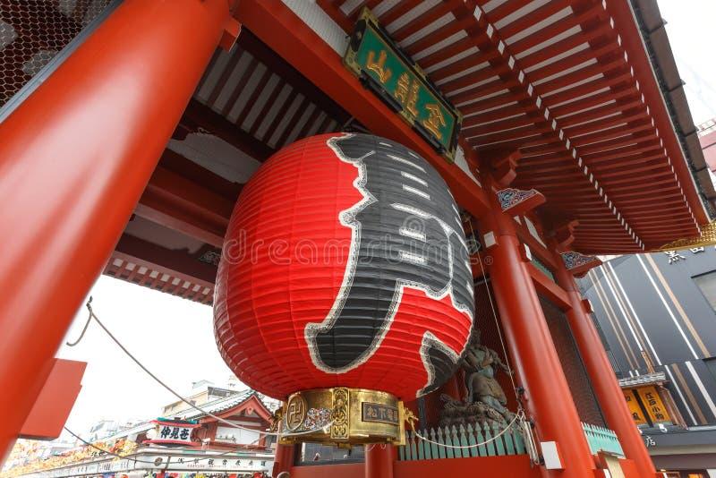 TOKYO, JAPAN - NOVEMBER 19, de Poort van 2016 van tempel Senso -senso-ji in Asakusa-District, een belangrijke toeristische attrac stock foto
