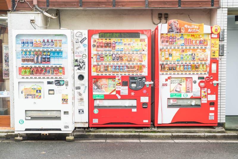 Tokyo Japan - November 15, 2016: Drinkmaskinautomation arkivbild