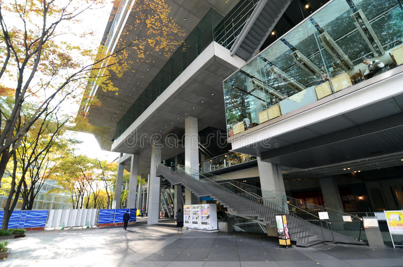 Tokyo, Japan - November 26, 2013: Exterior of Tokyo International forum. On November 26 2013 in Tokyo Japan. the Forum is one of Tokyo's architectural marvels stock photos