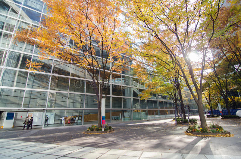 Tokyo, Japan - November 26, 2013: Exterior of Tokyo International Forum. On November 26, 2013 in Tokyo Japan. the Forum is one of Tokyo's architectural marvels royalty free stock image