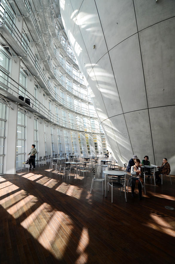 Tokyo, Japan - November 23, 2013: Japanese people visit National Art Center in Tokyo royalty free stock photo