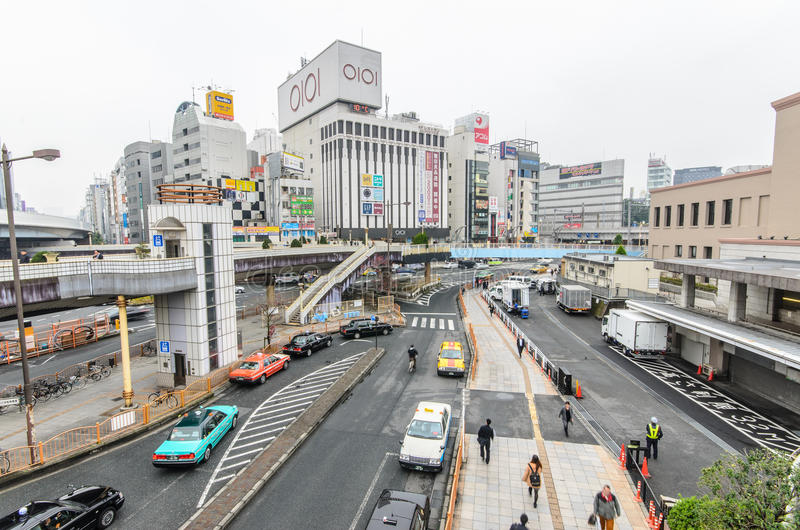 Tokyo, Japan - November 19, 2016 : The JR Ueno Station at Ueno d stock photos