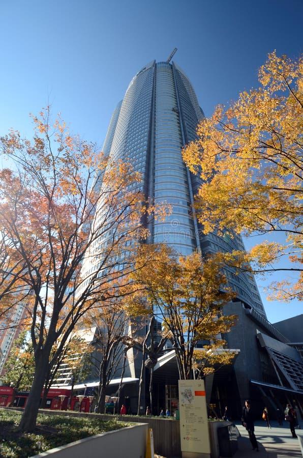 TOKYO, JAPAN - NOVEMBER 23, 2013: Mori Tower in Roppongi-Heuvels royalty-vrije stock afbeelding