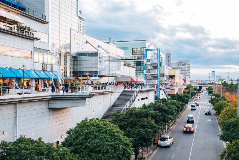 Odaiba seaside shopping mall street in Tokyo, Japan stock photography