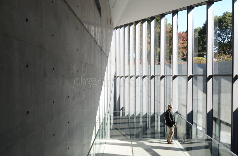 Tokyo, Japan - November 23, 2013: People visit 21_21 Design Sigh royalty free stock image