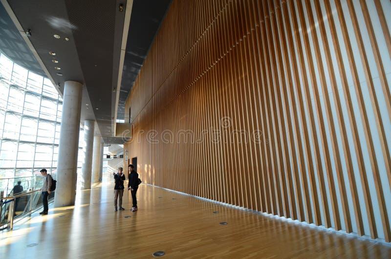 Tokyo, Japan - November 23, 2013: Tourist visit National Art Center in Tokyo stock image