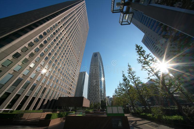 West area of Shinjuku station in Tokyo in the morning royalty free stock photo