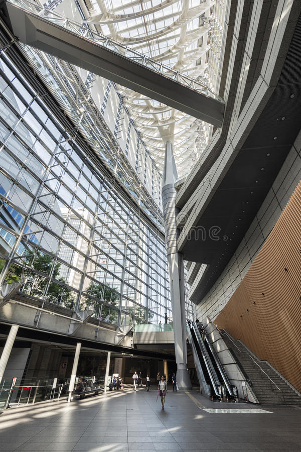 Tokyo, Japan - October 2, 2016: Interior of Tokyo International Forum, Japan. The Tokyo International Forum is a multi-purpose exhibition center in Tokyo, Japan royalty free stock photography