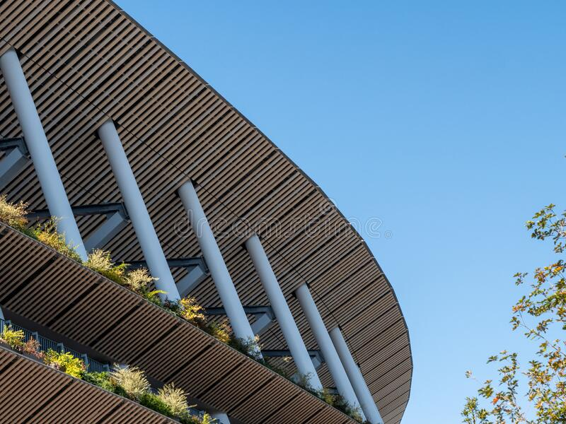 29 11 2019 - Tokyo, Japan: Japan`s new national stadium built in preparation for the 2020 Olympics.  stock image