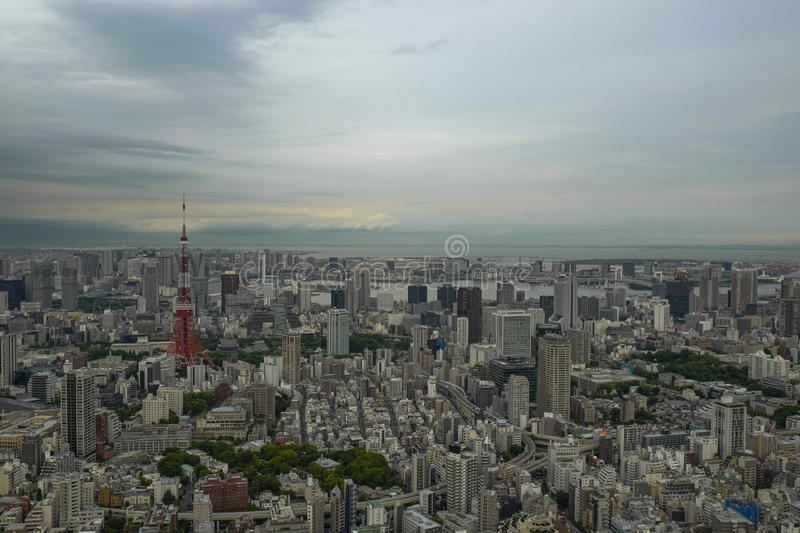 The view of the Roppongi area. Roppongi is a district of Minato, Tokyo, Japan stock photos