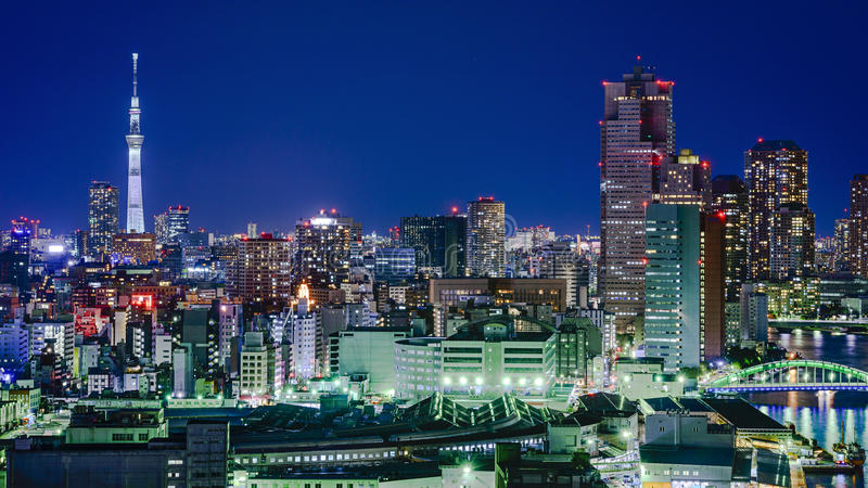 Tokyo Japan stadshorisont royaltyfri bild