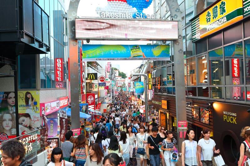 TOKYO JAPAN: Takeshita gata (Takeshita Dori) royaltyfria bilder